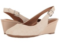Easy Spirit Safra Taupe Leather Women's Shoes