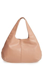 Sole Society Rouge Faux Leather Hobo Pink Blush