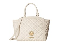 Love Moschino Quilted Tote White Tote Handbags