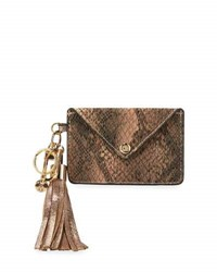 Neiman Marcus Tassel Flap Card Case Charm For Handbag Snake