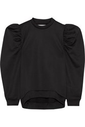 Marques ' Almeida Oversized Cotton Blend Jersey Sweatshirt Black