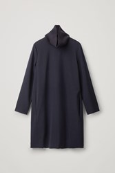 Cos Oversized Dress With Knitted Collar Blue