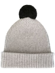 Marc Jacobs Pom Pom Beanie Grey