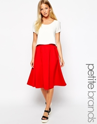 Girls On Film Petite Midi Full Skirt Redorange