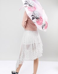 Ted Baker Umbrella In Palace Gardens Dusky Pink