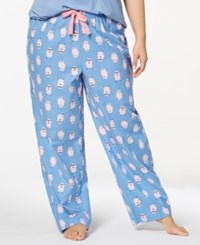 By Jennifer Moore Plus Size Printed Cotton Pajama Pants Created For Macy's Rosebay Pink