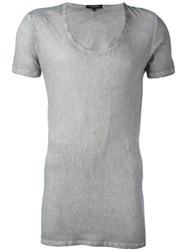 Unconditional Longline Short Sleeved T Shirt Grey