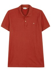 J. Lindeberg Rubi Pique Cotton Polo Shirt Red