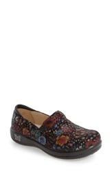 Alegria Women's 'Keli' Embossed Clog Midnight Garden Leather