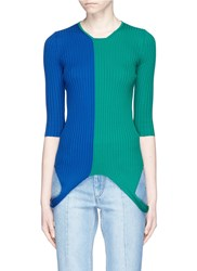 Ports 1961 Colourblock Loop Hem Rib Knit Sweater Multi Colour
