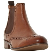 Dune Wide Fit Quent Ankle Boots Tan