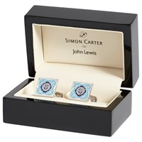 Simon Carter For John Lewis Archive Square Tile Cufflinks Blue