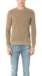 The Kooples Cotton Sweater With Shoulder Zip Camel