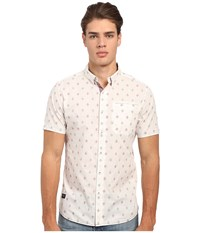 7 Diamonds Aztec Diamond Short Sleeve Shirt White Men's Short Sleeve Button Up