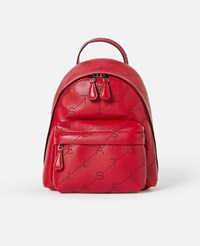 Stella Mccartney Red Monogram Mini Backpack