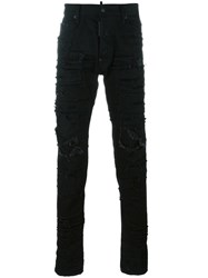 Dsquared2 Cool Guy Distressed Patchwork Jeans Black
