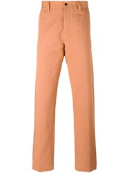 Massimo Piombo Mp Slim Fit Chinos Yellow Orange