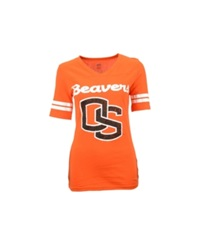 Soffe Women's Oregon State Beavers Football T Shirt Orange