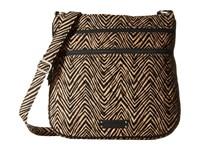 Vera Bradley Triple Zip Hipster Zebra Cross Body Handbags Animal Print