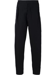 Lemaire Pleated Tapered Trousers Blue