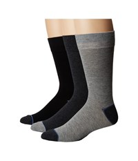 Steve Madden 3 Pack Solid Crew Grey Crew Cut Socks Shoes Gray