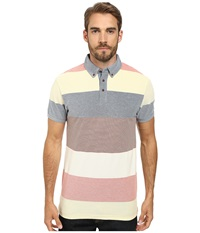 Moods Of Norway Per Are Piquet Short Sleeve Shirt 151387 Light Pastel Yellow Men's Short Sleeve Pullover