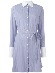 Rag And Bone Striped Shirt Dress White
