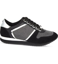 Carvela Lennie Leather Blend Trainers Black