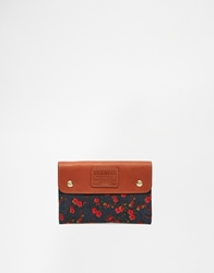 Jack Wills Leather Purse With Floral Ditsy Print Multi