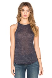 Bella Luxx Marbled Slouchy Tank Navy