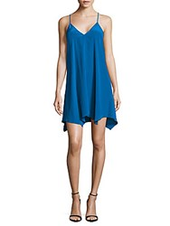 Amanda Uprichard Silk Slip Dress Electric Teal