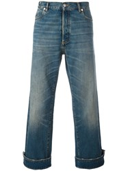 Maison Martin Margiela Turn Up Cuffs Cropped Jeans Blue