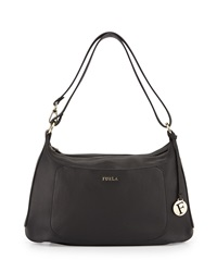 Furla Alida Medium Leather Hobo Bag Onyx