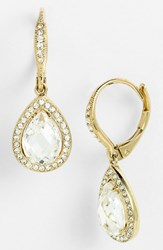 Women's Nadri Pear Drop Earrings Gold Clear Nordstrom Exclusive