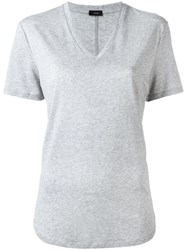 Joseph V Neck T Shirt Grey
