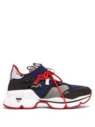 Christian Louboutin Red Runner Neoprene Trainers Multi
