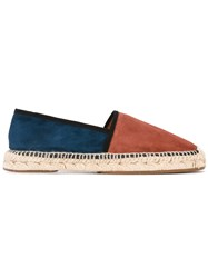 Chie Mihara Block Panel Espadrilles Women Leather Suede Rubber 36 Brown