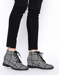 Asos Riddle Wedge Ankle Boots Check