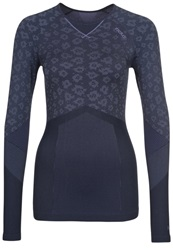 Odlo Evolution Long Sleeved Top Dusted Peri Navy New Grey