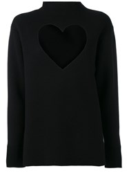 Proenza Schouler Heart Cut Out Sweater Black