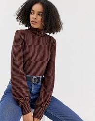 Minimum Roll Neck Top Brown