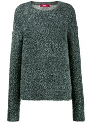 Sies Marjan Courtney Tinsel Knit Sweater Polyamide Polyester S Blue