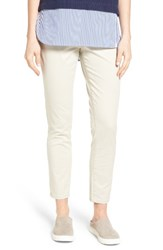 Jag Jeans Women's Amelia Pull On Slim Stretch Twill Ankle Pants Stone