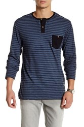 Volcom Dyed Trying Henley Shirt Blue
