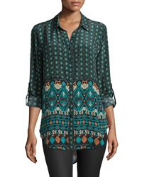 Tolani Evelyn Printed High Low Tunic