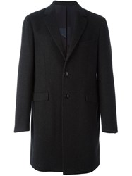 Etro Classic Single Breasted Coat Black