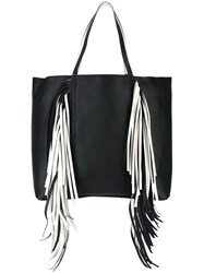 Sara Battaglia Fringed Shopper Black