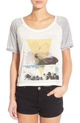 Women's Roxy 'Sporty Baby' Graphic Scoop Neck Tee