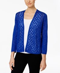 Charter Club Diamond Stitch Open Front Cardigan Only At Macy's Modern Blue