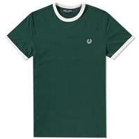Fred Perry Ringer Tee Green